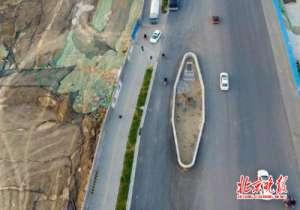 道路最牛钉子树 城市主干道都为其让路为何却引来民众喝彩?