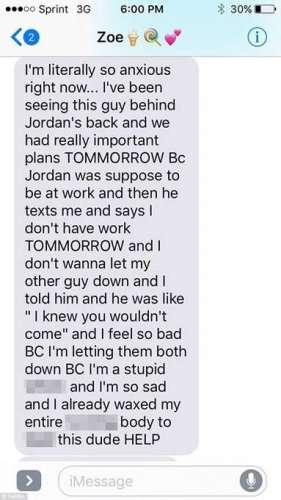 女子偷情向闺蜜倾诉苦恼误将短信发给男友 引来网友的抨击和指责