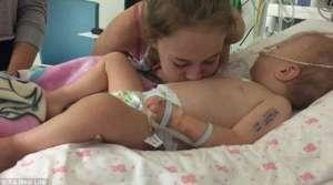2岁濒临死亡女孩被姐姐的吻唤醒 小宝贝还学会说话和爬行