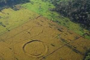 巴西雨林现巨型图 网友-是远古原住民还是外星人的杰作?